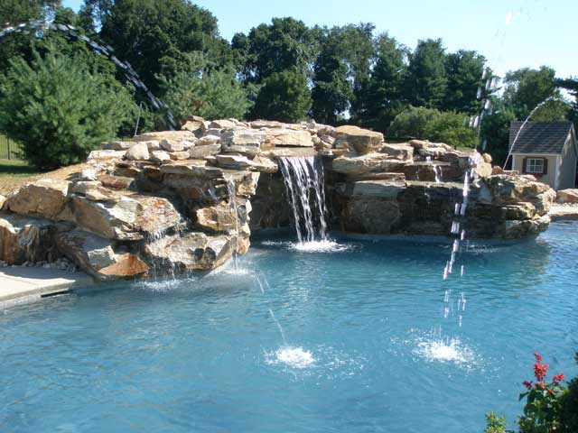 Add a rock waterfall this summer